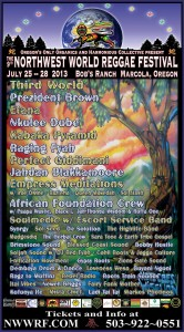Northwest World Reggae Festival 2013 Razteria performs live w Empress Meditations!