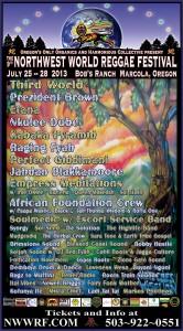 Northwest World Reggae Festival 2013 Razteria performs live w Empress Meditations!