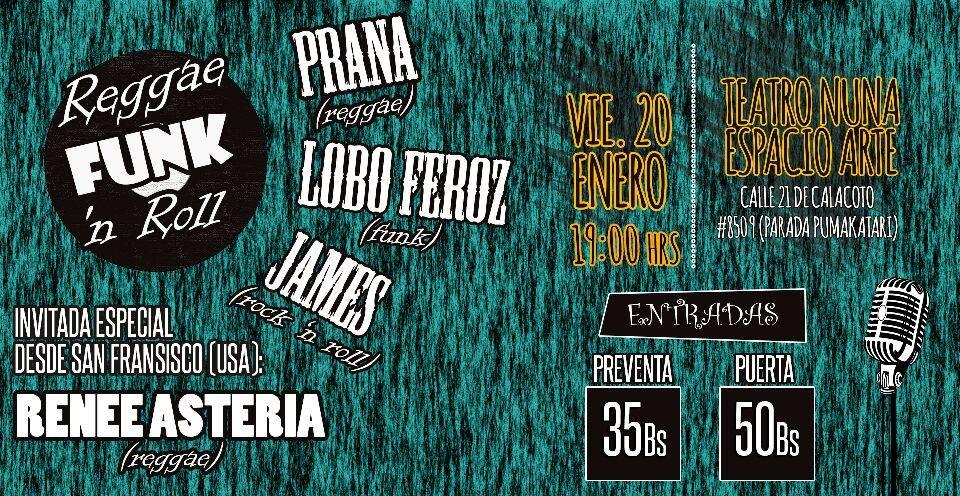 Reggae Funk 'n Roll - Prana, Lobo Feroz, James Y Razteria